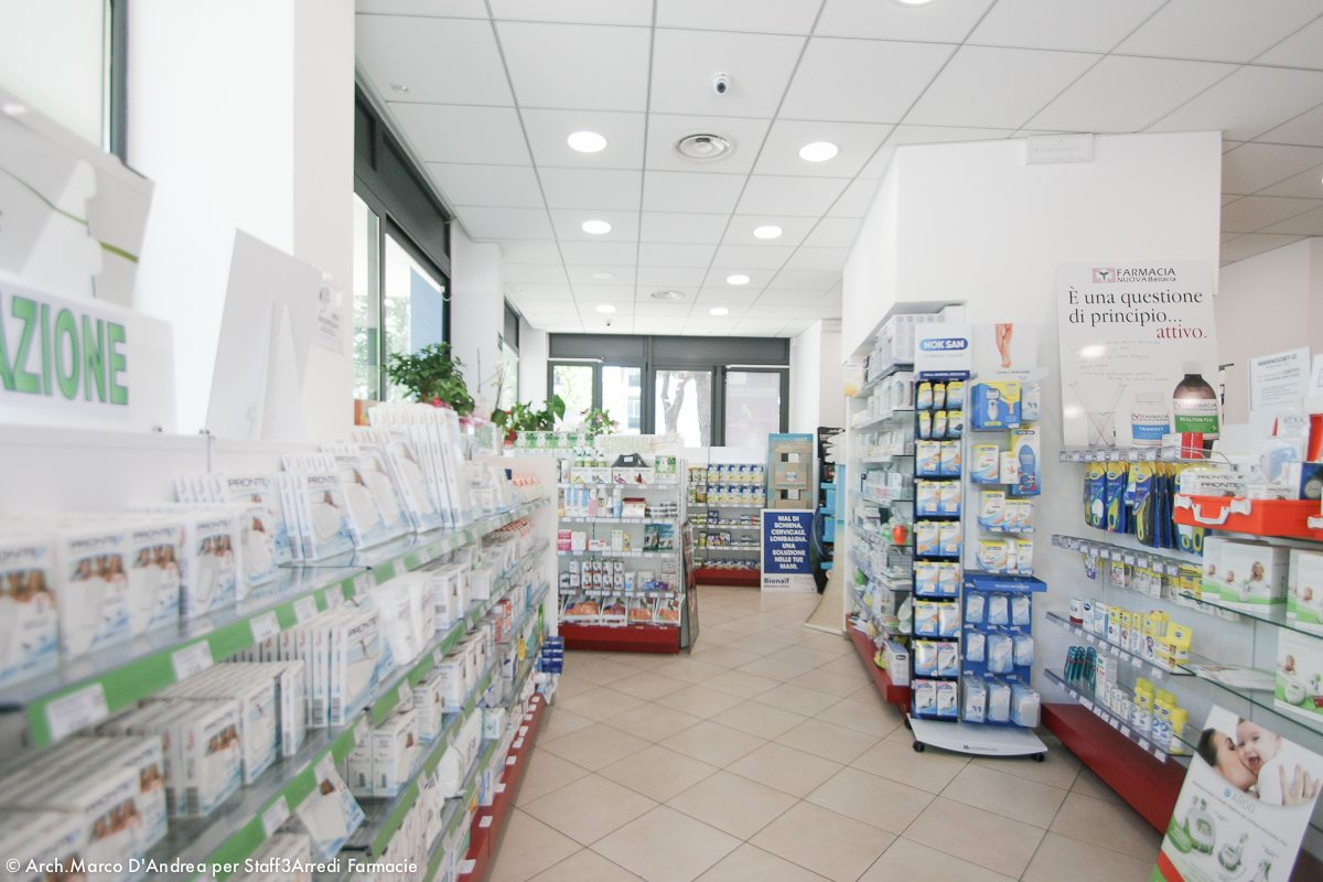 Pharmacy Project Interiors White And Red