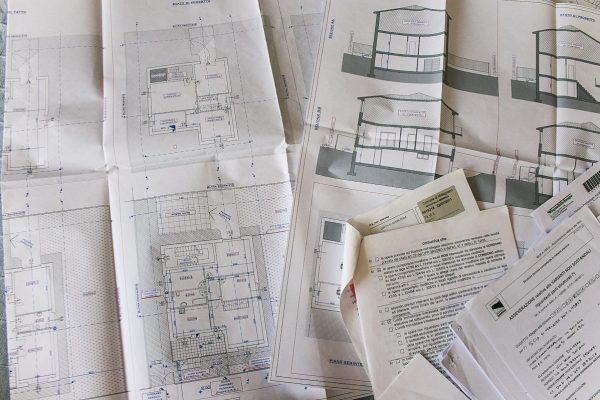 disegni e documenti per progetto di architettura