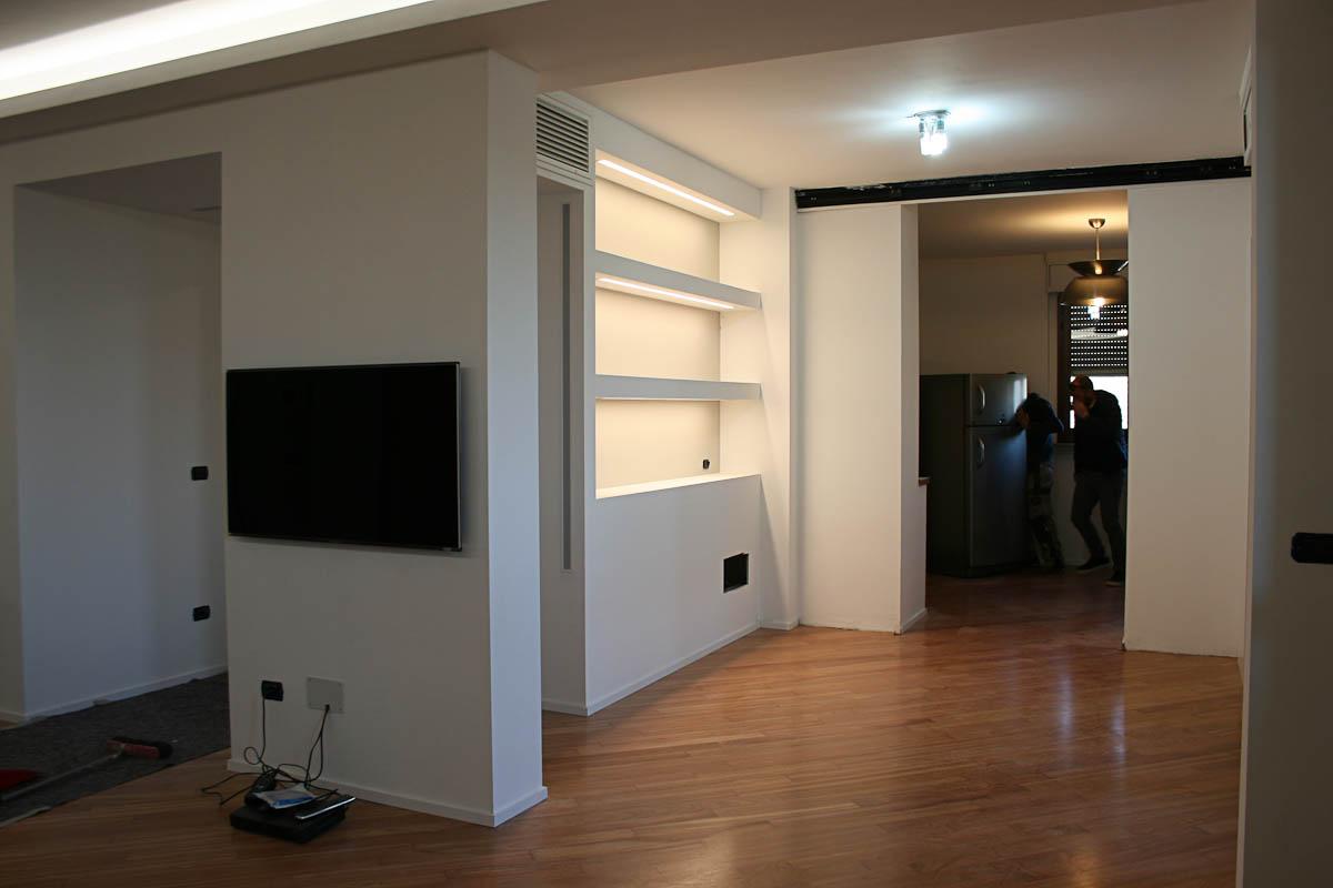 Progetto Ristrutturazione Residenziale Libreria Con Illuminazione Led