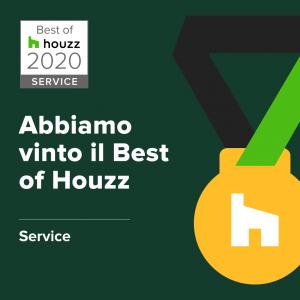 Premio Best of Houzz Service 2020 per la soddisfazione clienti all'architetto Marco D'Andrea